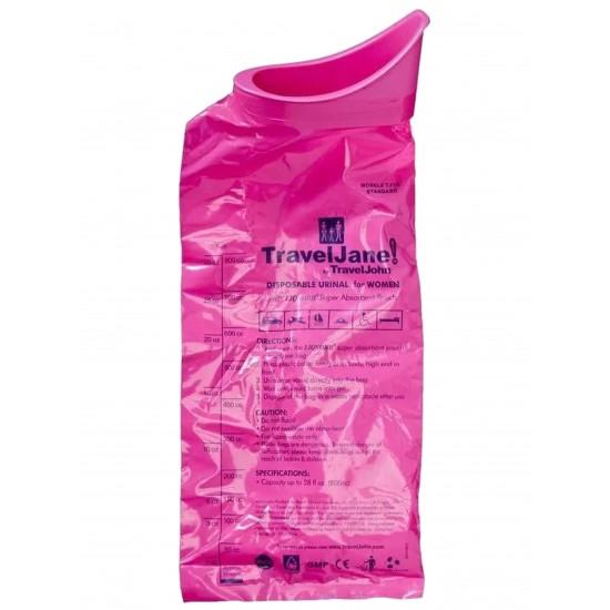 Travelloo (TravelJane) Pink Disposable Urinal 10  & 5 Packs