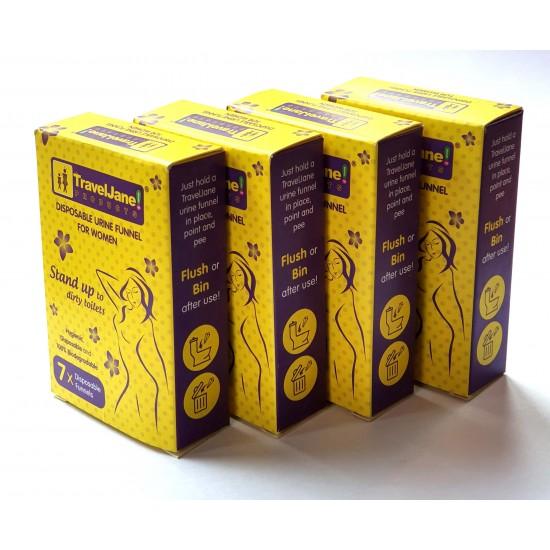 Travelloo Pee Shooter (4 X 7 Packs)