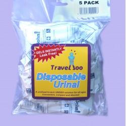 Travelloo (TravelJohn) Disposable Urinal 10  & 5 Packs